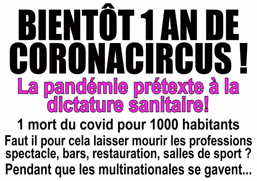 1 AN DE CORONACIRCUS