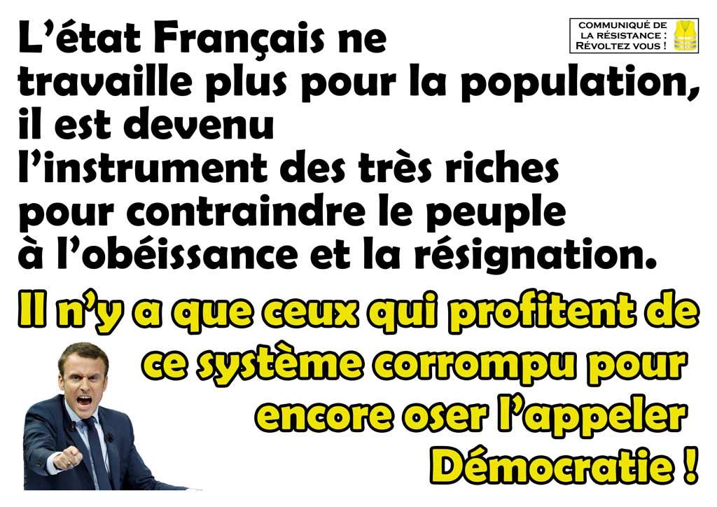 L'état Français corrompu